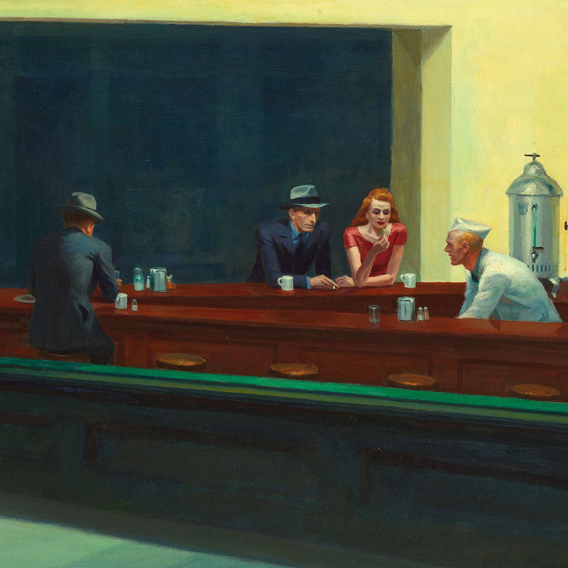 20180302 Nighthawks by Edward Hopper 1942