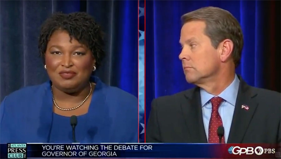 20188010 confronto Stacey Abrams Brian Kemp